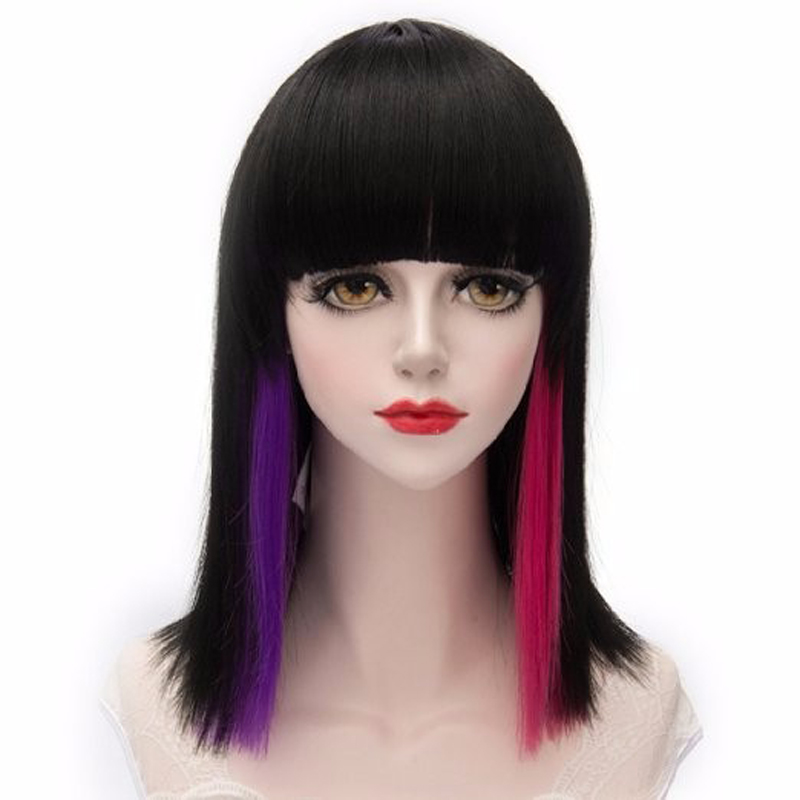 Lolita Women Female  Short bob Synthetic Hair Wigs Heat Resistance Charming Cosplay Costume Wigs Harajuku + Wig Cap