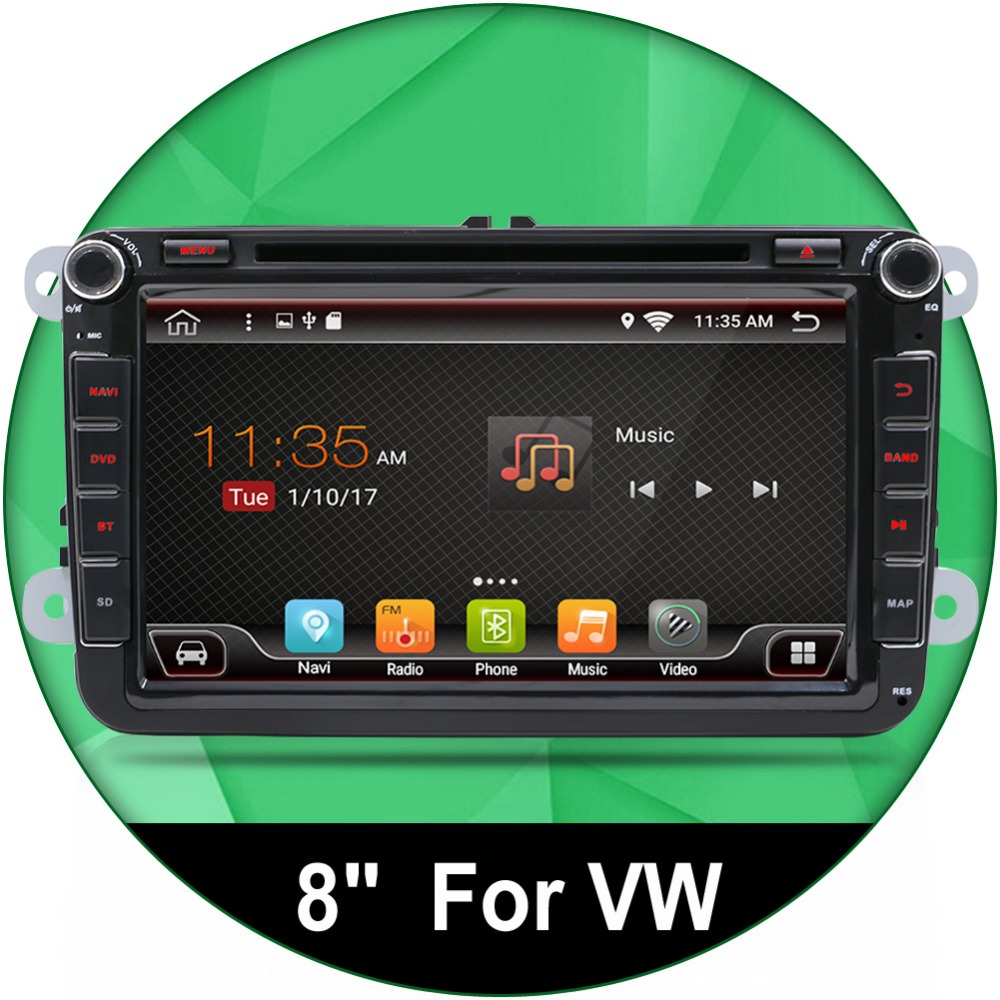 8 android 6 0 car radio dvd gps navigation for volkswagen. Black Bedroom Furniture Sets. Home Design Ideas