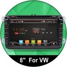 """8 """"Android 6.0 Autoradio DVD GPS Navigation Für Volkswagen VW Caddy Golf Jetta Polo Sedan Touran Passat EOS 3G + DVD Automtivo"""