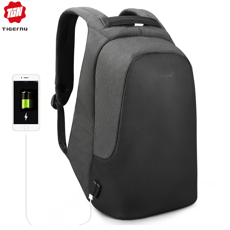 Tigernu Men s Casual Backpack for Male Laptop Anti Theft Backpack Women Waterproof USB Charge Travel