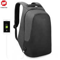 Tigernu Men's Casual Backpack for Male Laptop Anti Theft Backpack Women Waterproof USB Charge Travel Bag for Girls Black Mochila