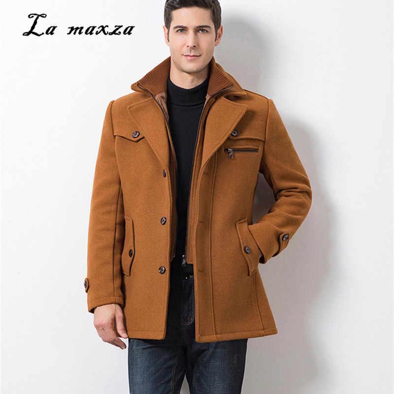 Plus Size 5xl 2020 Smart Casual Mens Coats Overcoats Fashion Pockets Winter Dress Coat New Arrivals Wool Blends Aliexpress