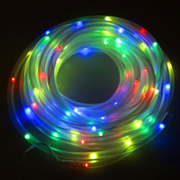 10M 100 LED Solar Powered Tube String Light Lamp for Party Wedding Home Decor Christmas Gift