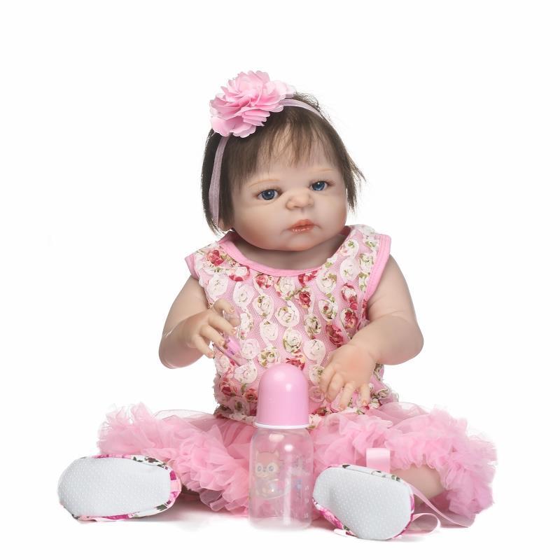 56 cm arrivées bébé poupée cadeau jouet doux vinyle silicone reborn poupées bébés filles jouets de bain étanche corps complet princesse noël