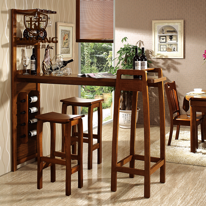 Home Solid Wooden Bar Furniture Set Bar Table And Chair Z3036 In Bar Tables From Furniture On