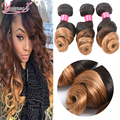 Ombre Peruvian Loose Wave 4 Bundles Blonde Ombre Hair 1B/27 Human Hair 2 Tone Ombre Virgin Hair Loose Wave Cheap Ombre Bundles