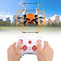 Mini RC drone UFO M66 2.4g 4 canales 6 eje Control remoto helicóptero escalada juguetes 360 grados voltea magia UFO juguetes eléctricos regalos