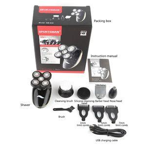 Image 5 - Wielofunkcyjny Grooming elektryczny zestaw z golarką na mokro i na sucho elektryczna golarka dla mężczyzn i kobiet akumulator USB broda do włosów w nosie Shavin