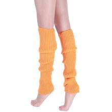 Женские модные вязаные гетры, носки для обуви, хлопковые теплые носки