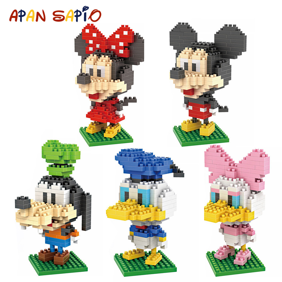 Mini Building Blocks Brick Toys Cartoon Character Model Educational Blocks Toys For Children Compatible LegoeING
