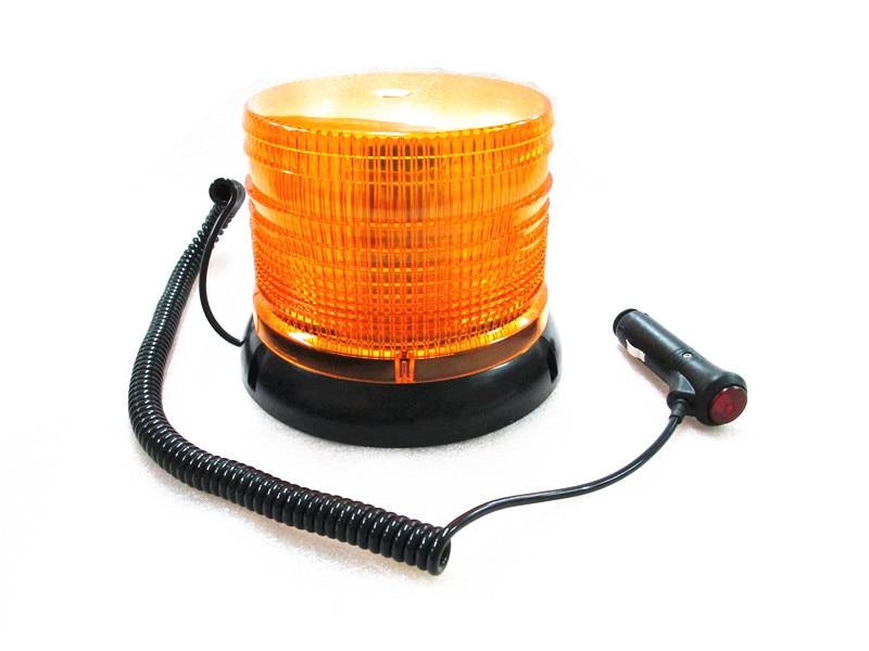 LED Magnetic Mount Rotating Flashing Amber Strobe Beacon Warning Light Recovery