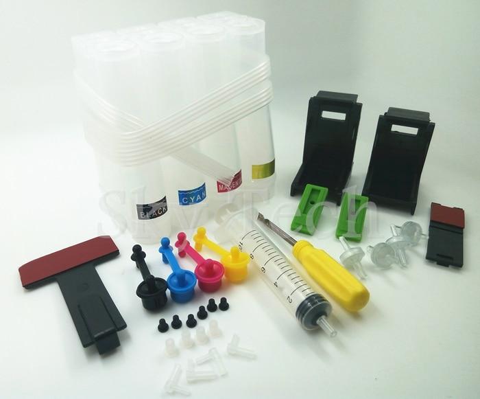 univerzális CISS, DIY eszközök Canon HP CISS-hez, fúró- és szívószerszámmal és minden tartozékkal, 4 szín, ingyenes szállítás