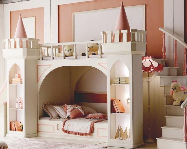 Muebles De Madera Para Quarto Meja Mewah Tempat Tidur Bayi Literas - Mebel - Foto 2