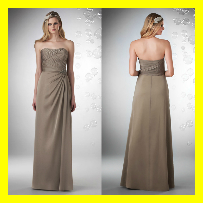 Taupe Bridesmaid Dresses Veromia Uk Online Deep Red Adult Strapless ...