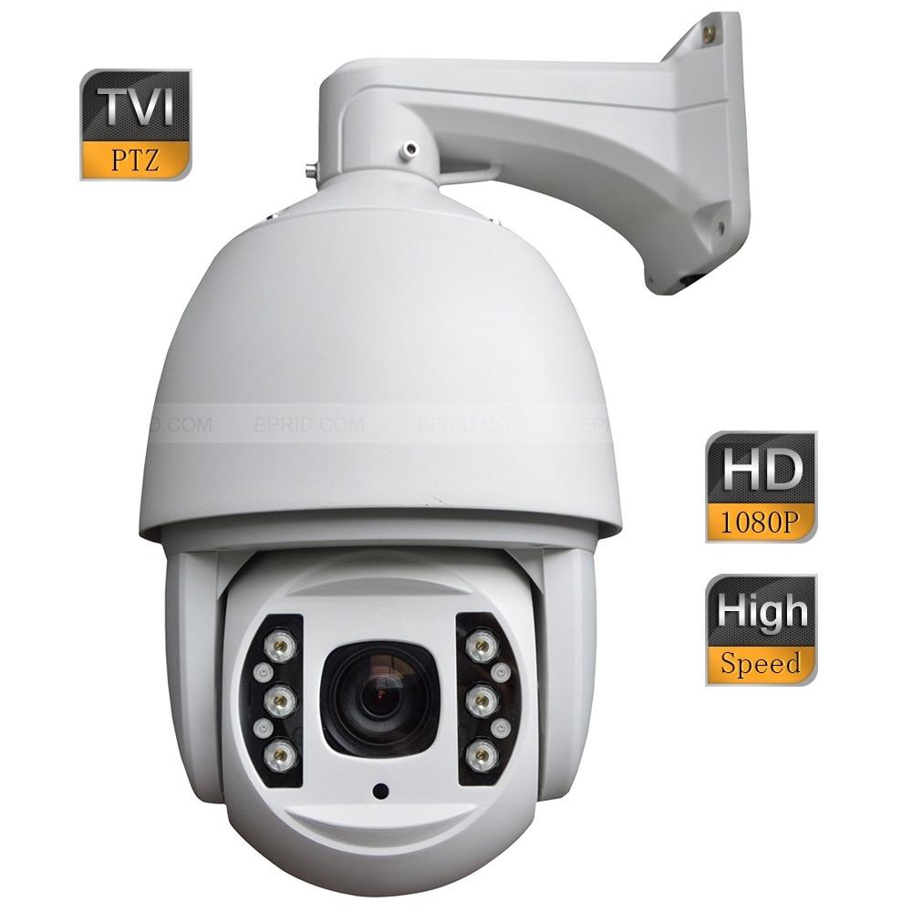 6inch 2MP 1080P HD-TVI High Speed Outdoor IR Dome PTZ Camera 18x Optical Focus 4 in 1 ir high speed dome camera ahd tvi cvi cvbs 1080p output ir night vision 150m ptz dome camera with wiper