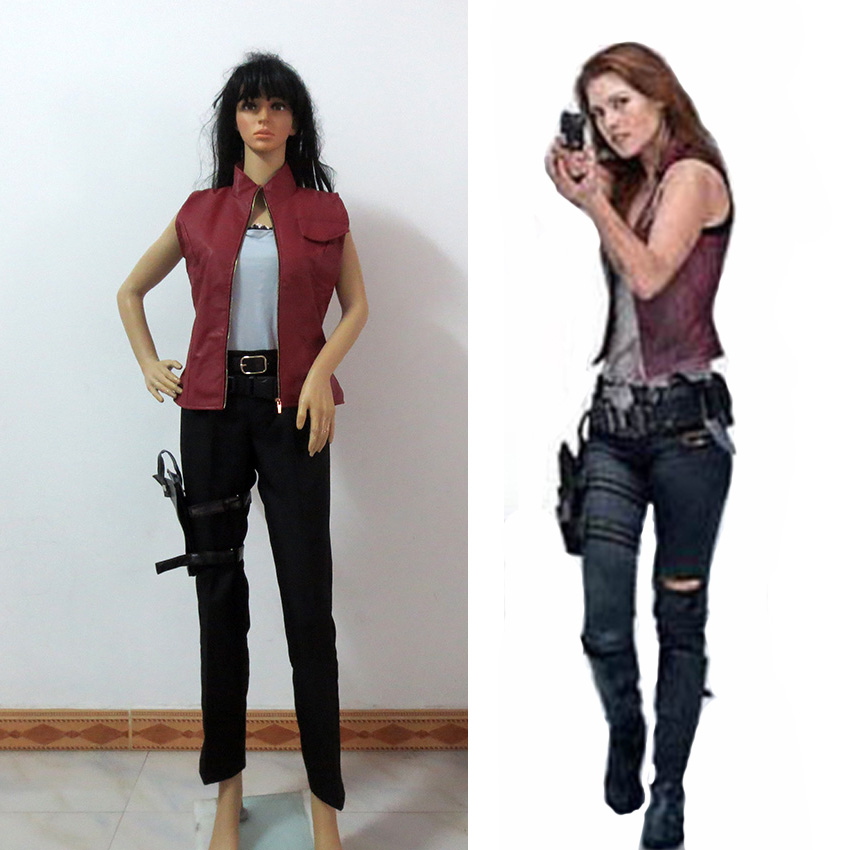 Resident Evil Clare Claire Redfield Cosplay Costume Customize Any Size
