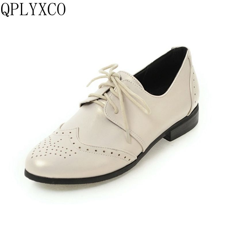 QPLYXCO New casual fashion big small Size 30-50 Shoes Woman tenis feminino lace-up low heels Spring Autumn women shoes 157A