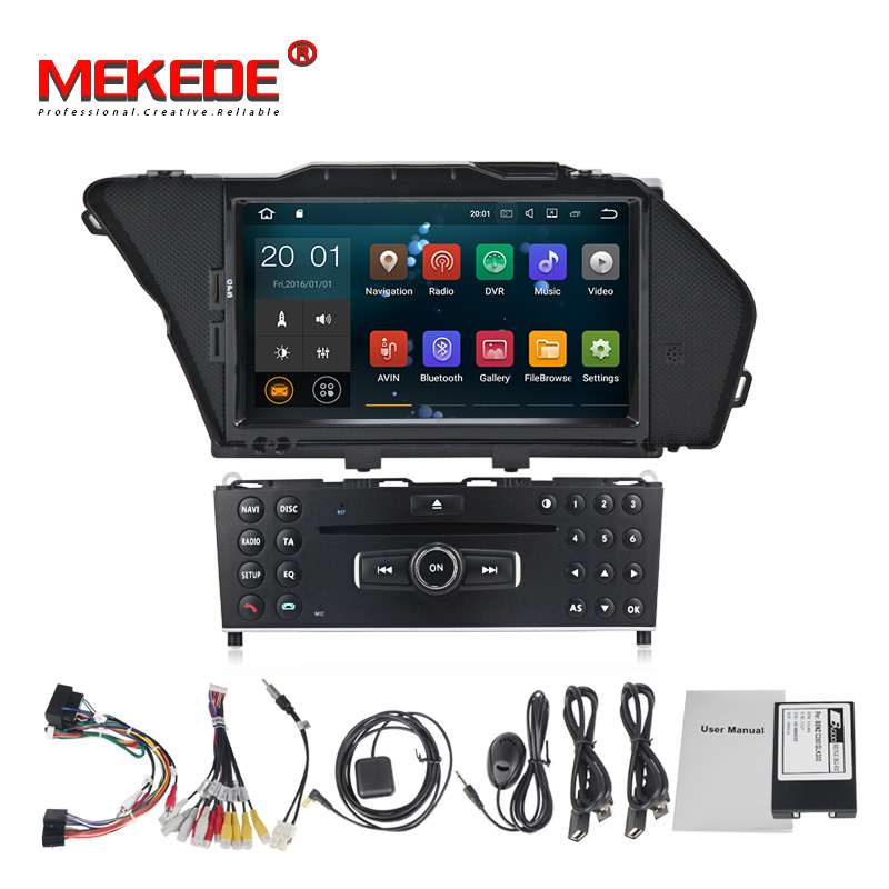 Quad core Android 7.1 car radio gps dvd player for benz GLK GLK300 GLK350 X204 2008 2012 navigation multimedia system 2GB RAM