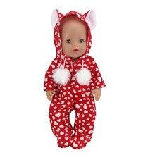 Costumes de saut pour poupée de 43cm, vêtements pour poupée de 17 pouces, nouveau né, nouvelle collection