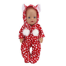 New Doll Jump Suits Fit For 43cm Baby Doll 17 Inch Reborn Baby Doll Clothes