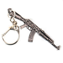 Game PUBG Weapon AK47 Gun Key Chains for Men 2018 CS GO AK KeyChain Tritium Car Key Holder Key ring CSGO Jewelry(China)