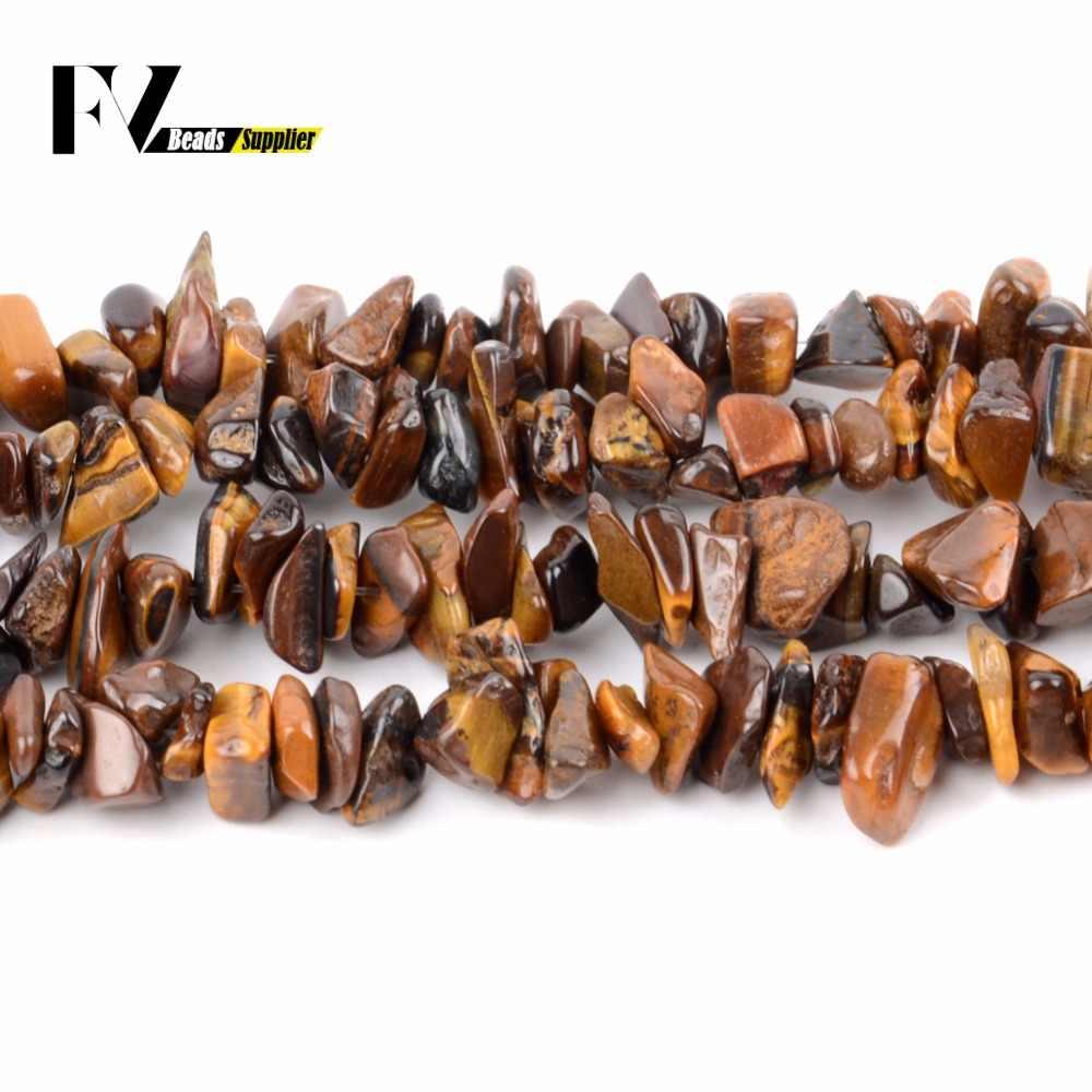 3mm-5mm Yellow Tiger Eye Chips Perlen Zubehör Natürliche Stein Kies Perlen für Hand Schmuck Machen Armbänder 15 zoll