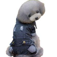 Winter Dogs Clothes Jeans Coat Cat Dog Animal Printed Costume Cowboy Jean Jacket Four Leg Denim Clothing For Dogs Black