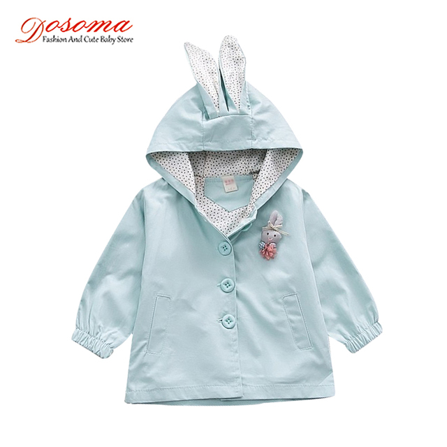 22a243c8a Dosoma 2018 Girls Coats And Windbreaker Spring Cotton Kids Clothes Rabbit  Ear Hooded Girls Coats Korean Cute Girls Jackets 1-3 Y