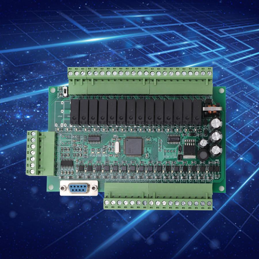 Industrial Programmable Control Board PLC FX1N 30MR 16 Input 14 Output DC24V motor speed regulator