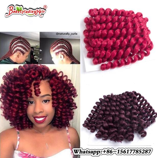 10 tums Wool Curl Crochet Braiding Afro Kinky Twist Hair Hoppning - Syntetiskt hår