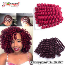 10 tums Wool Curl Crochet Braiding Afro Kinky Twist Hair Hoppning Wand Curl Jumpy Braids Syntetisk Hook Braids Hair Extensions