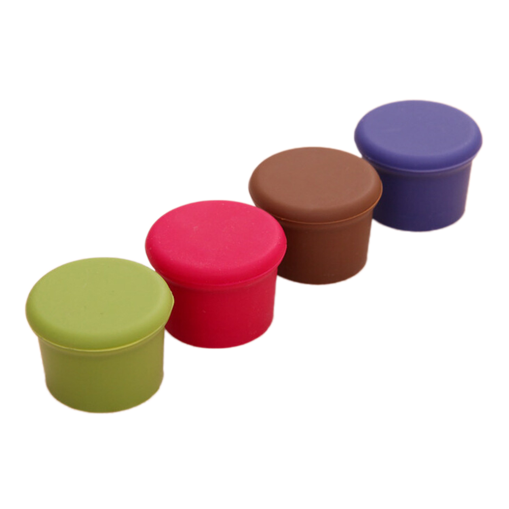 1pcs/lot Silicone Candy-Colored Fresh Bottle Cap Wine Bottles Stoppers Hot Sales Bar Accessories Kitchen Tools
