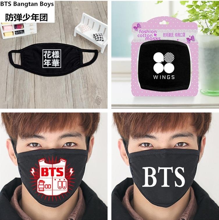Shop For Cheap 2018 New Black Anti-dust Cotton Mouth Mask Kpop Bts Bangtan Boys Collective Masks K-pop Bts Face Mouth-muffle Face Respirator Men's Earmuffs