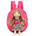 2017 NUEVO 3D niños mochilas de Lona mochila de Dibujos Animados Princesa Mochilas escolares Niñas de Kindergarten Mochila Bebé mochila niños