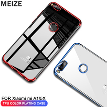MEIZE Case For Xiaomi Mi A1 Mix 2 2S Plating Soft TPU Cases Ultra Thin Transparent mi mix2 Silicon Cover