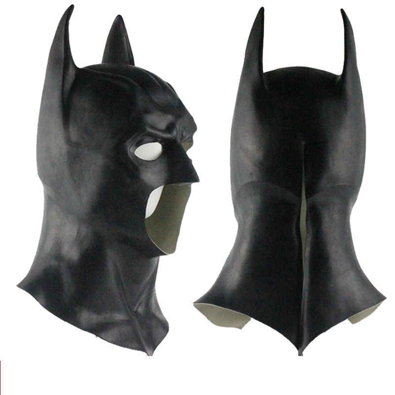 Batman Masker Karet Kembali Superman The Dark Knight Kepala Penuh Lateks Topeng Hood Silikon Pesta Halloween Pahlawan Cosplay Avengers