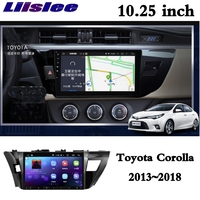 For Toyota Corolla E170 2013~2018 LiisLee Car Multimedia CarPlay Adapter GPS Audio Radio Stereo Original Style Navigation NAVI