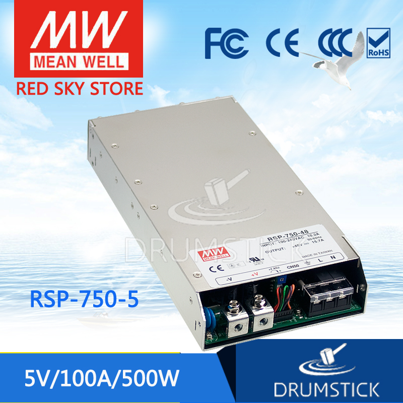 Hot sale MEAN WELL RSP-750-5 5V 100A meanwell RSP-750 5V 500W Single Output Power Supply 750 100