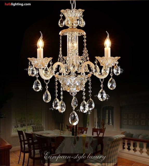 Small Bedroom Crystal Chandelier Lighting Fixture Living Room Light Tiffany Chandeliers