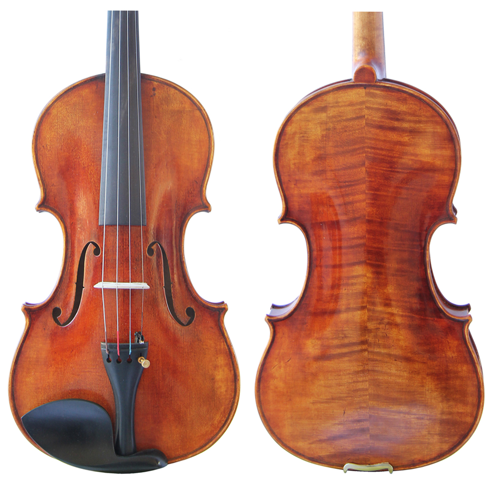Free Shipping Copy Guiseppe Guarneri del Gesu II 1743 Violin FPVN02 100% Handmade Oil Varnish with Foam Case Carbon Fiber Bow free shipping copy stradivarius 1716 100% handmade oil varnish violin carbon fiber bow foam case fpvn04 8