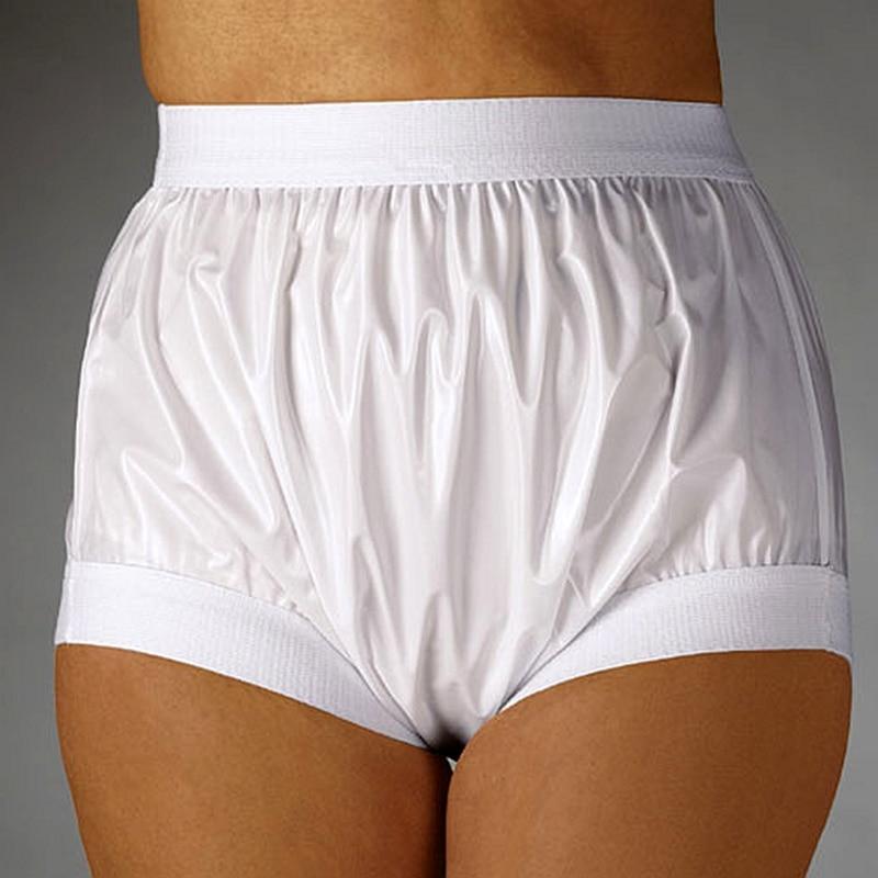 Pantalones de FUUBUU2207-White-XXL-1PCS elástica ancha para adultos, de plástico, sin pantalones, para pañales de bebés y adultos, Envío Gratis