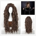 New High Quality Long Brown Wavy Bellatrix Lestrange Wig Harry Potter Synthetic Hair Anime Cosplay Wig