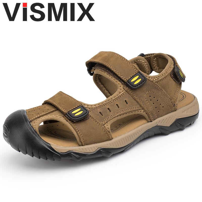 Summer Casual Men's Shoes Fashion Leisure Beach Men Shoes High Quality Leather Sandals The Big Yards Men's Sandals Big Size38-48 anmairon shallow leisure striped sandals women flats shoes new big size34 43 pu free shipping fashion hot sale platform sandals