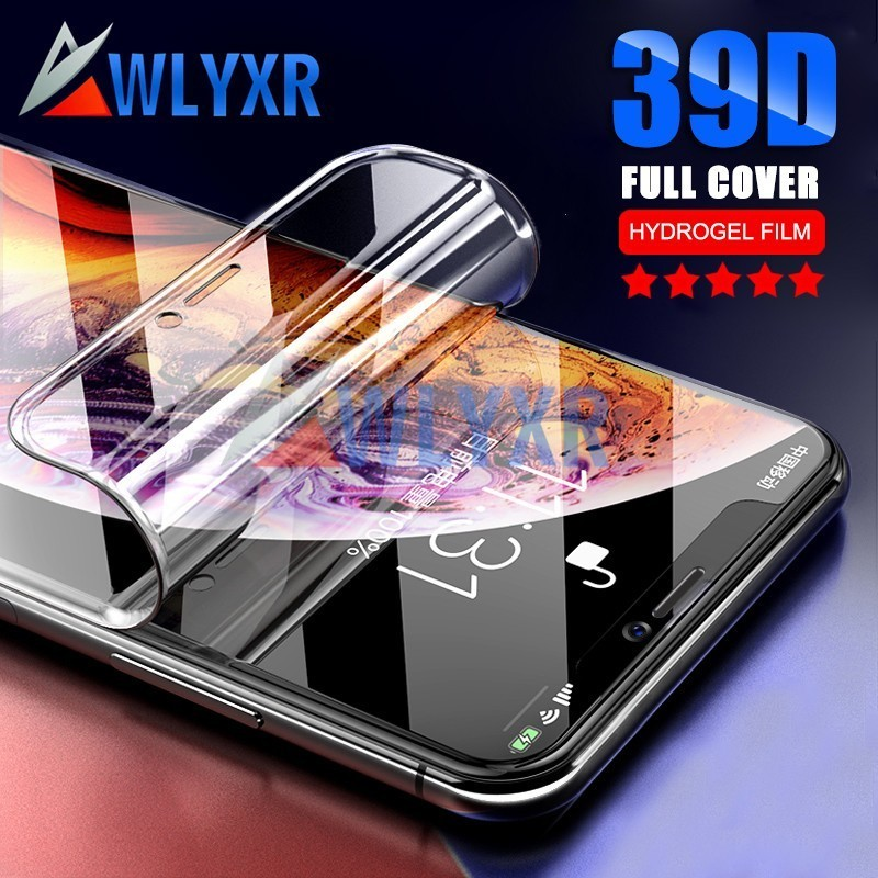 39D Full Cover Soft Clear Hydrogel Film For iPhone XR X XS MAX  Screen Protector 6S 6 7 8 Plus Protective Case