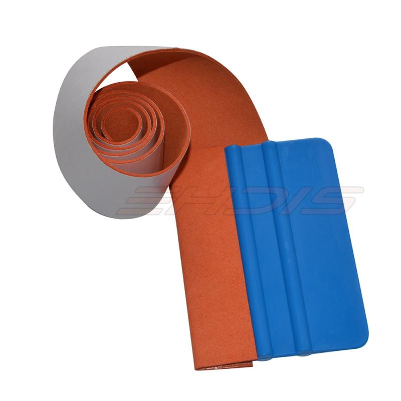 EHDIS 5 cm * 100 cm Rouleau Suede Feutre Bande Pour Raclette Adhensive Colle Remover Suede Feutre Bord Pour Raclette Voiture Vinyle Wrap Outil A81-1M