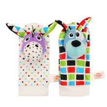 2 pcs/pair Wrist Band Rattle Foot Socks Ring Bell colorful Infant Baby Toy Children Early Educational Toys Jouet Enfant