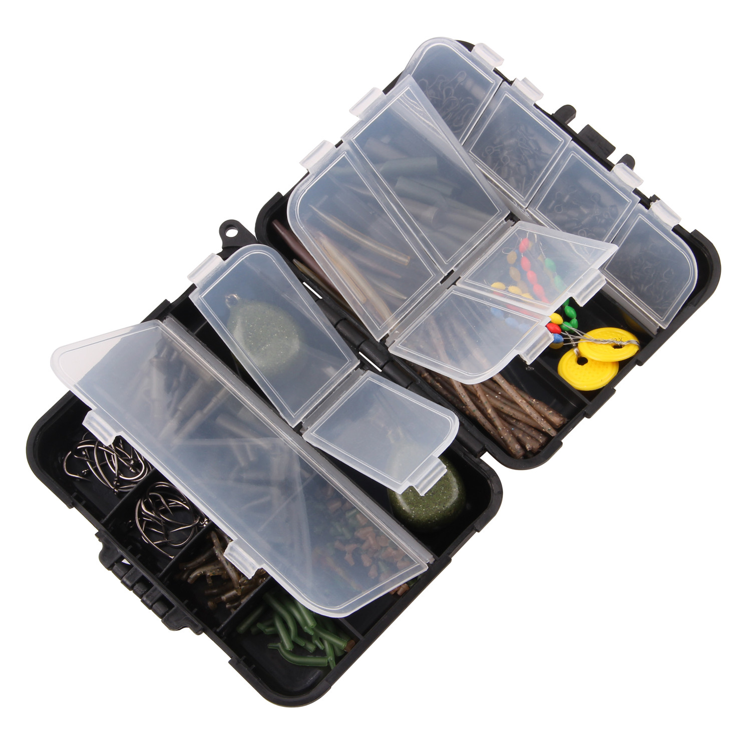 Fishing-Tackle-Box Sleeve-Line Bait-Screw Aligner Lead-Sinker Carp Hook Stoper Carp-Bait