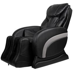 vidaXL Electric Artificial Leather Recliner Massage Chair Black