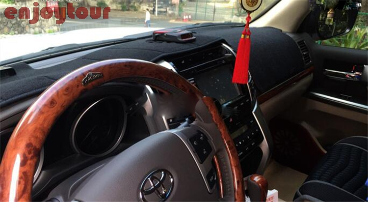 dashmats car-styling accessories dashboard cover for toyota landcruiser LAND CRUISER v8 j200 LC200 LC120 LC150 2008-2018