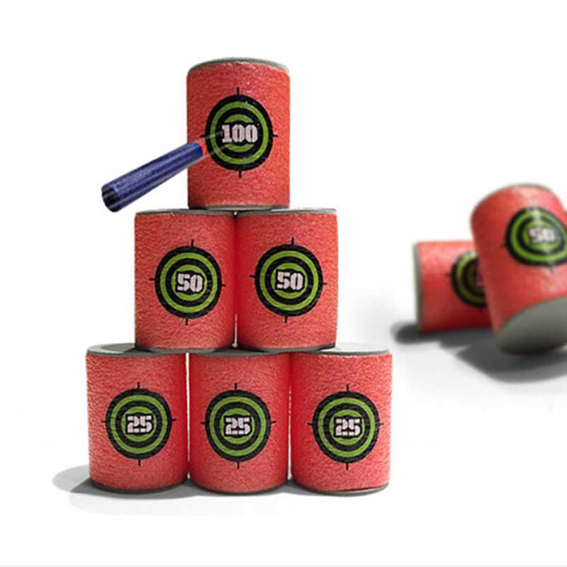 Gorąca sprzedaż 6 sztuk Bullet cele strzał dart docelowa dla pistolet zabawkowy s Elite Retaliator serii blastery rzutki pistolet zabawkowy na miękkie pociski załączniku